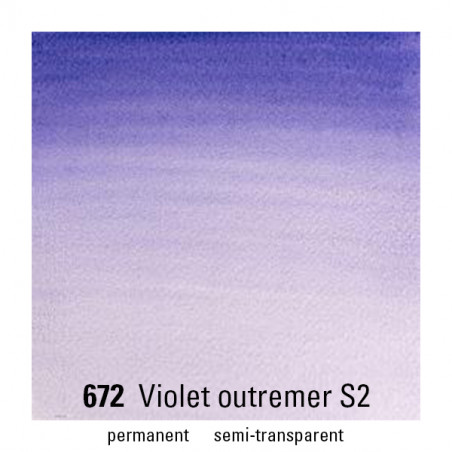 WINSOR&NEWTON AQUARELLE 14ML S2 672 OUTREMER VIOLET