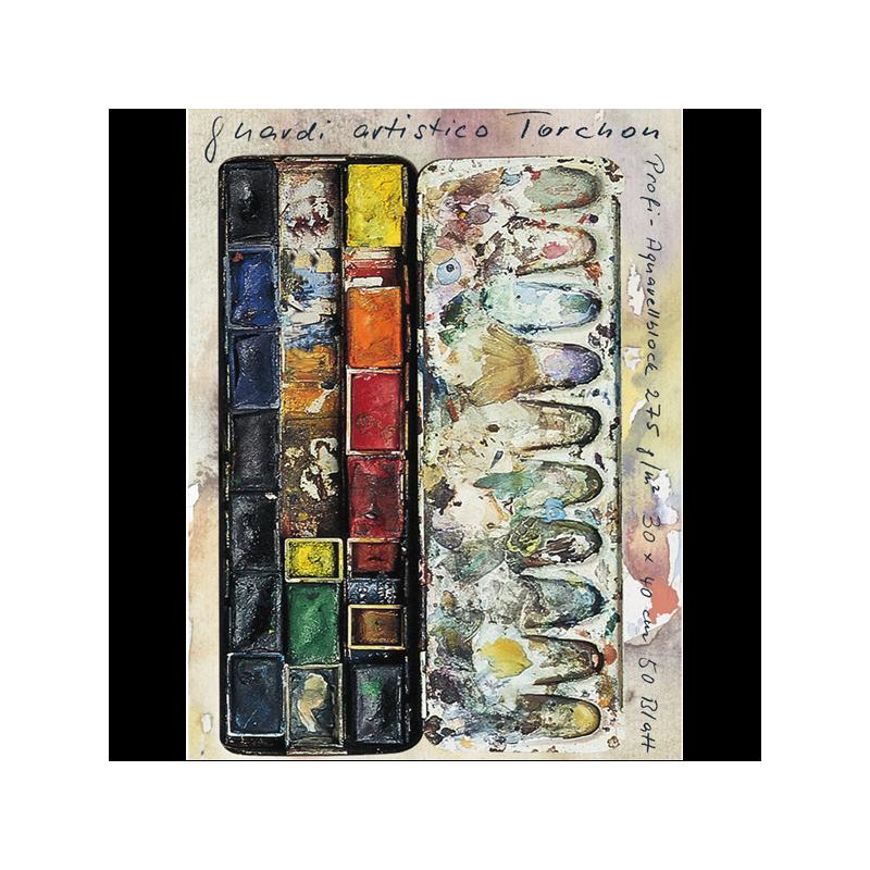 Bloc de papier aquarelle torchon 275 g/m² Guardi Artistico