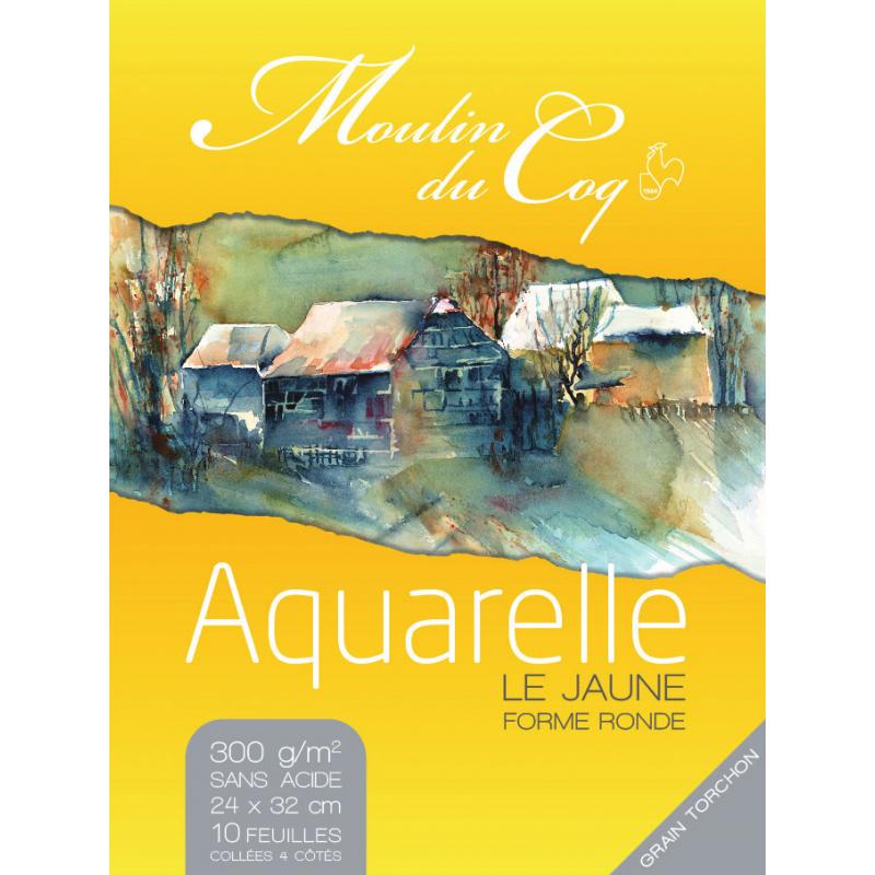 Moulin du Coq aquarelle « le jaune »