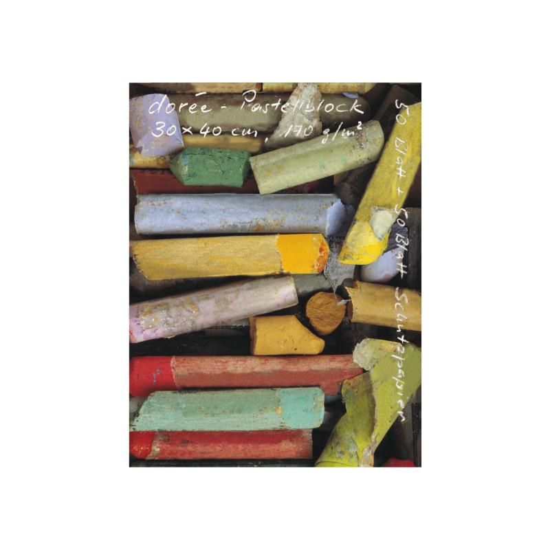 Bloc pastel 170 g/m² Dorée