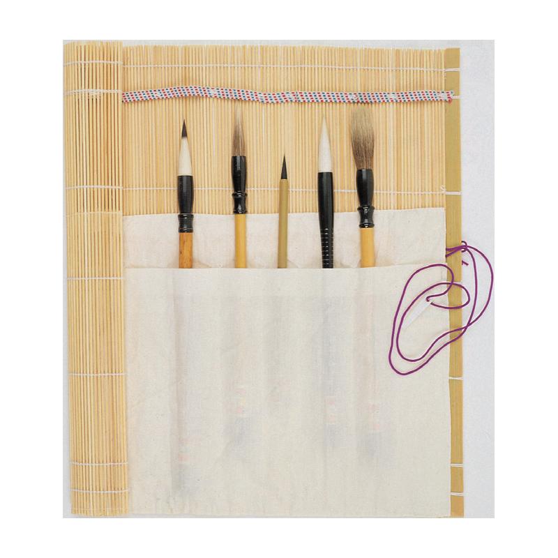 Boesner tapis pour pinceaux en bambou