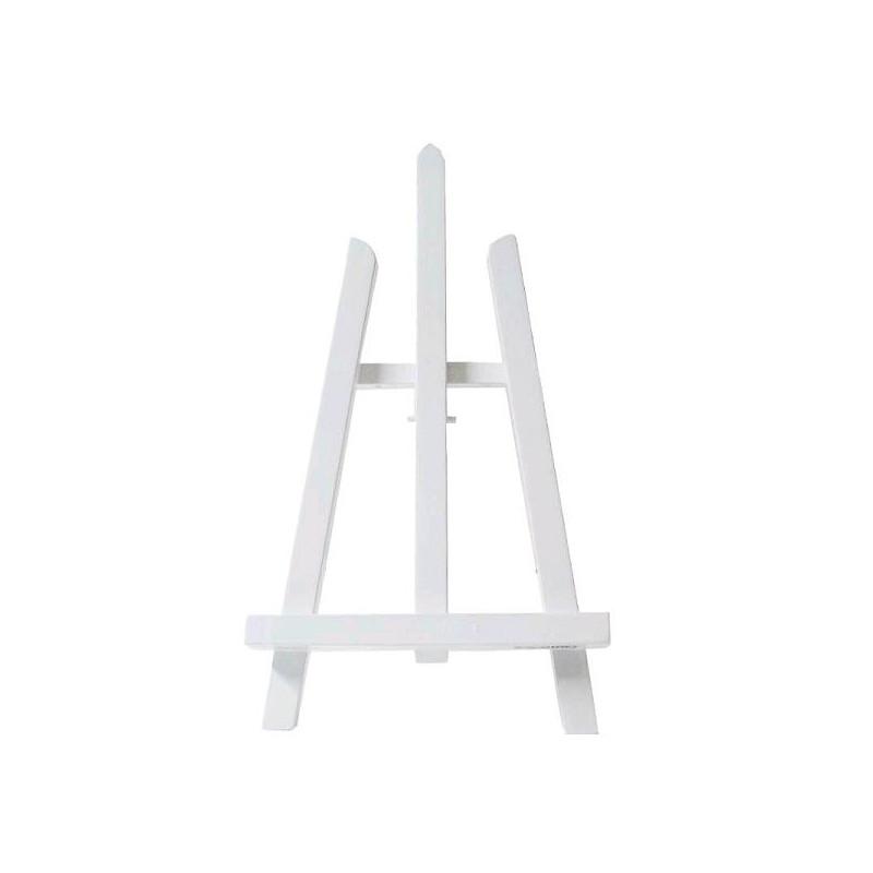 Chevalet de table an57 bois peint blanc