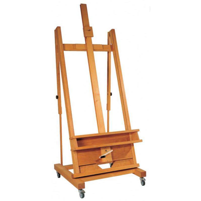 chevalet atelier pas cher bois h tre tremp l 39 huile. Black Bedroom Furniture Sets. Home Design Ideas