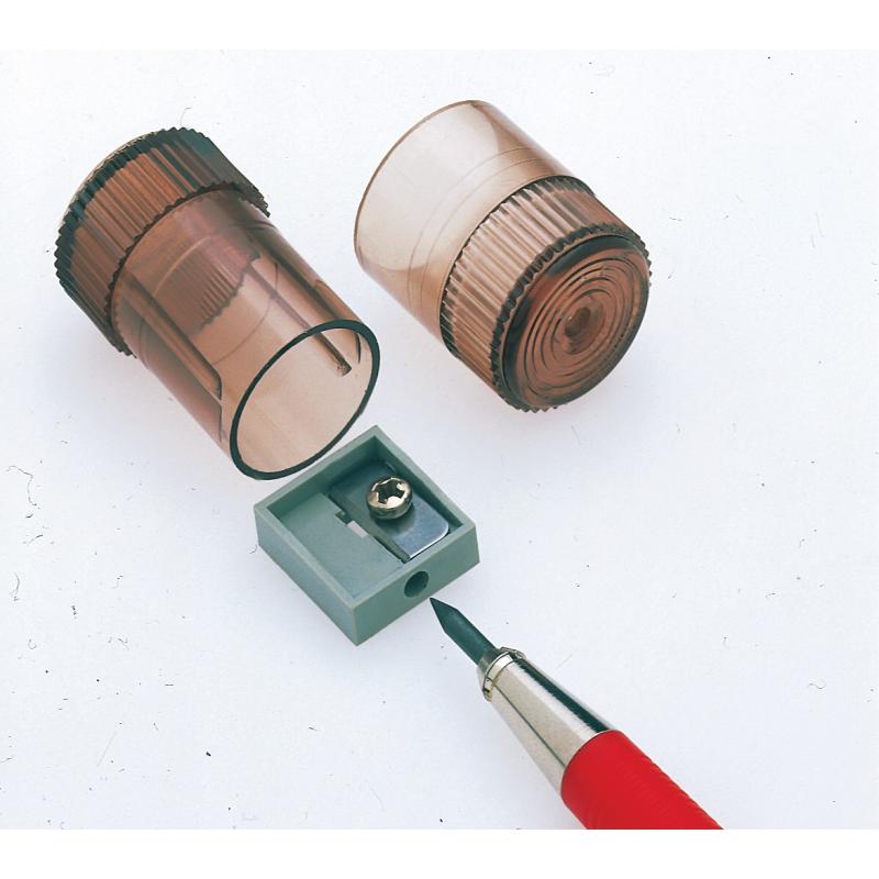 Taille-crayon avec réservoir pour porte-mine de 2 mm