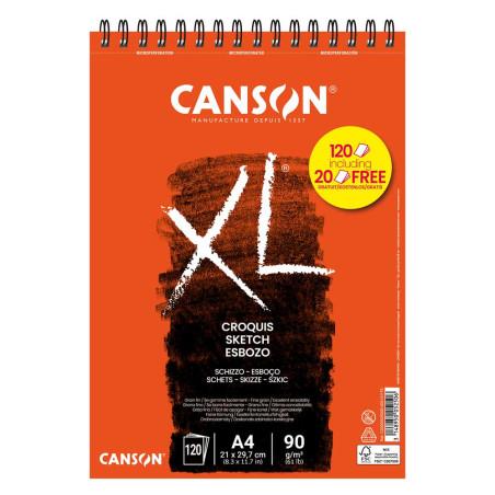 CANSON XXL CROQUIS 90G A4 120F