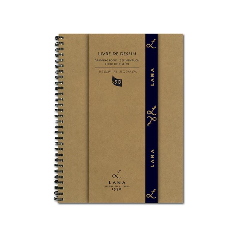 Cahier blanc pour dessin 150g/m² Lana