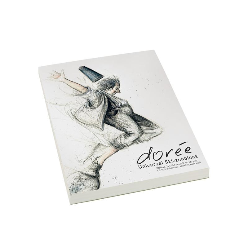 Bloc de papier à esquisse 120g/m² Boesner