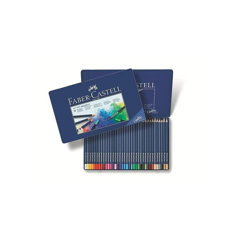 "Faber castell ""art grip"" crayon aquarellable assortiment"