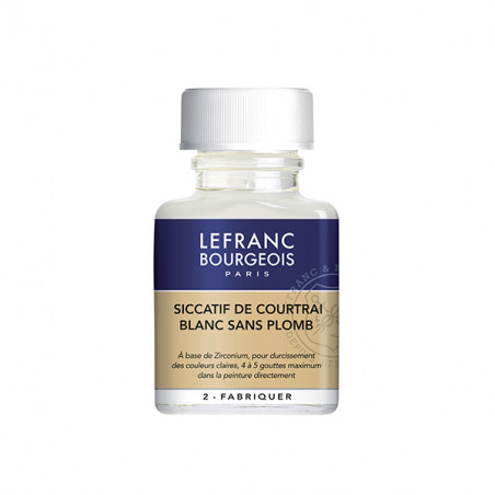 LEFRANC&BOURGEOIS SICCATIF COURTRAI BLANC 75ML