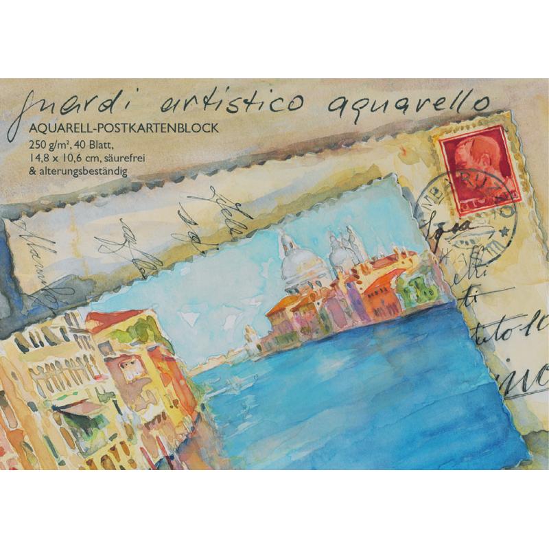 Bloc de 40 cartes postales pour aquarelle