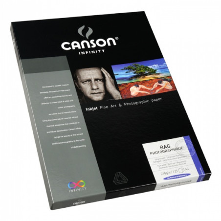 CANSON INFINITY PAPIER IMPRESSION RAG PHOTO 210G A3 25F