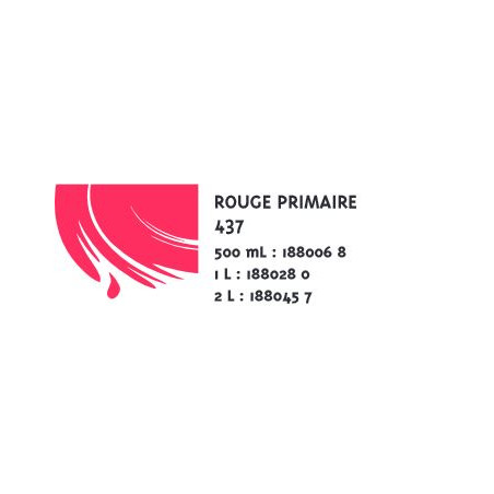 COLOR&CO GOUACHE 1L 437 ROUGE PRIMAIRE
