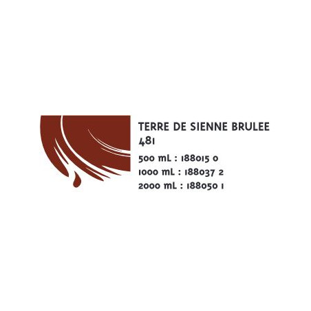 COLOR&CO GOUACHE 500ML 481 TERRE SIENNE BRULEE