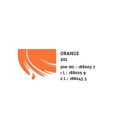 COLOR&CO GOUACHE 500ML 201 ORANGE