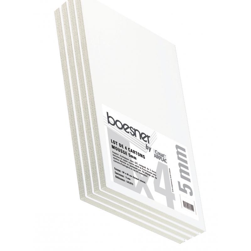 Lot de 4 cartons Mat'Graphic 2 mm et 1.5 mm