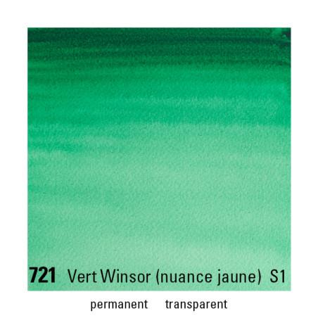 WINSOR&NEWTON AQUARELLE 1/2 GODET S1 721 VERT WINSOR