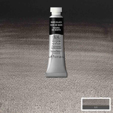 WINSOR&NEWTON AQUARELLE 5ML S1 386 NOIR DE MARS
