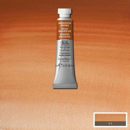 WINSOR&NEWTON AQUARELLE 5ML S1 381 BRUN MAGNESIUM