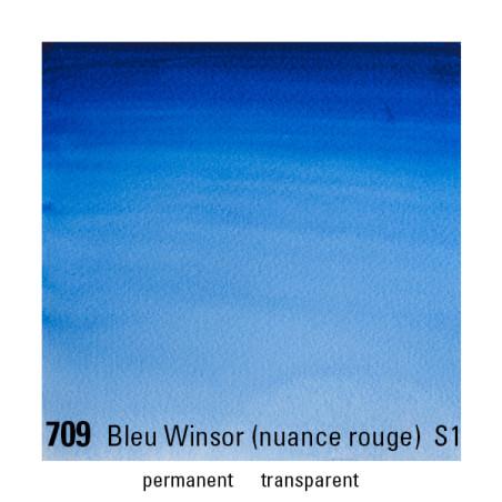 WINSOR&NEWTON AQUARELLE 1/2 GODET S1 709 BLEU WINSOR ROUGE