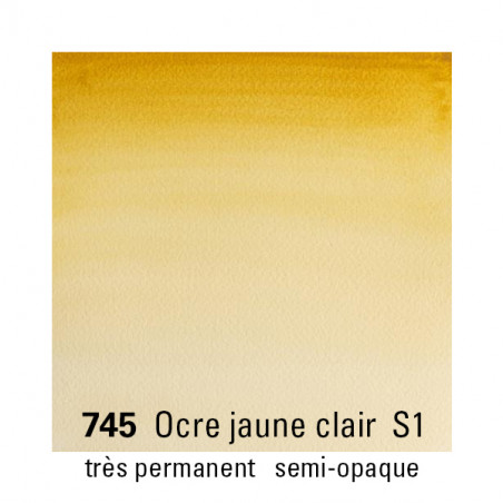 WINSOR&NEWTON AQUARELLE 5ML S1 745 OCRE JAUNE CLAIR