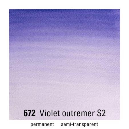 WINSOR&NEWTON AQUARELLE 1/2 GODET S2 672 VIOLET OUTREMER