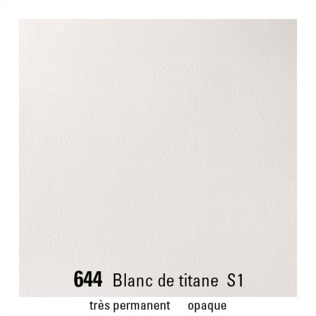 WINSOR&NEWTON AQUARELLE 1/2 GODET S1 644 BLANC TITANE