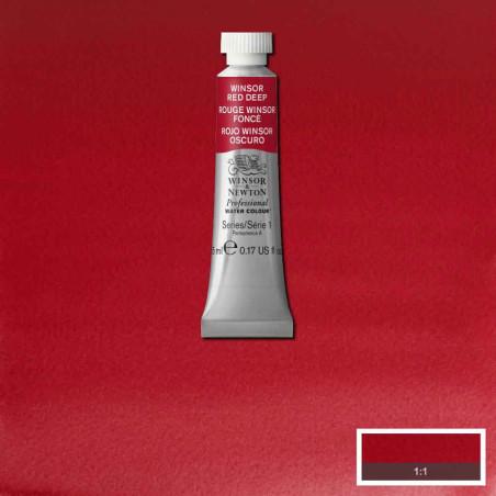 WINSOR&NEWTON AQUARELLE 5ML S1 725 ROUGE WINSOR FONCE