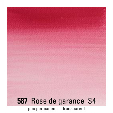 WINSOR&NEWTON AQUARELLE 1/2 GODET S4 587 ROSE GARANCE VERIT