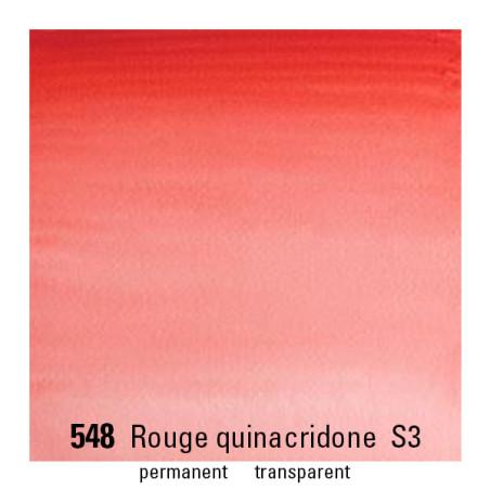 WINSOR&NEWTON AQUARELLE 1/2 GODET S3 548 ROUGE QUINACRIDONE