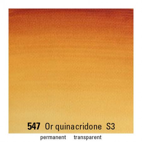 WINSOR&NEWTON AQUARELLE 1/2 GODET S3 547 OR QUINACRIDONE
