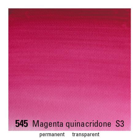 WINSOR&NEWTON AQUARELLE 1/2 GODET S3 545 MAGENTA QUINA
