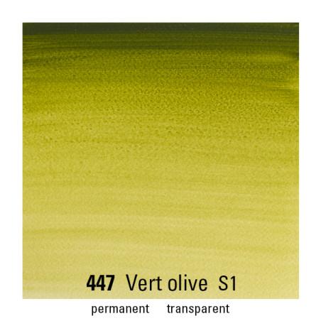 WINSOR&NEWTON AQUARELLE 1/2 GODET S1 447 VERT OLIVE