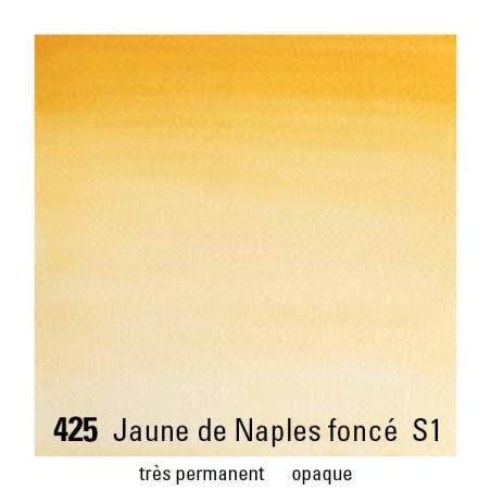 WINSOR&NEWTON AQUARELLE 1/2 GODET S1 425 J AUNE NAPLES FONCE
