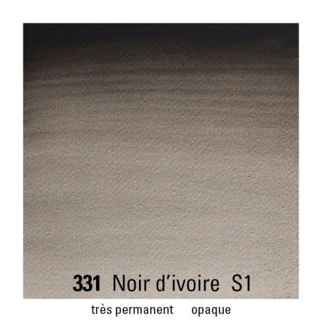 WINSOR&NEWTON AQUARELLE 1/2 GODET S1 331 NOIR IVOIRE