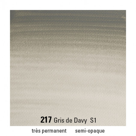 WINSOR&NEWTON AQUARELLE 1/2 GODET S1 217 GRIS DAVY