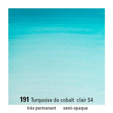 WINSOR&NEWTON AQUARELLE 1/2 GODET S4 191 TURQ. COBALT CLAIR