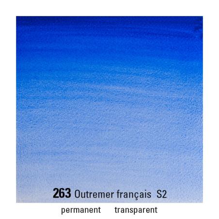 WINSOR&NEWTON AQUARELLE 1/2 GODET S2 263 OUTREMER FRANCAIS