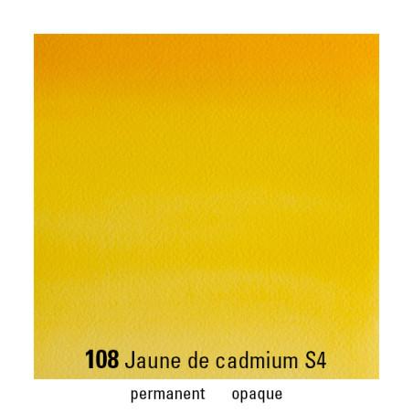 WINSOR&NEWTON AQUARELLE 1/2 GODET S4 108 JAUNE CADMIUM