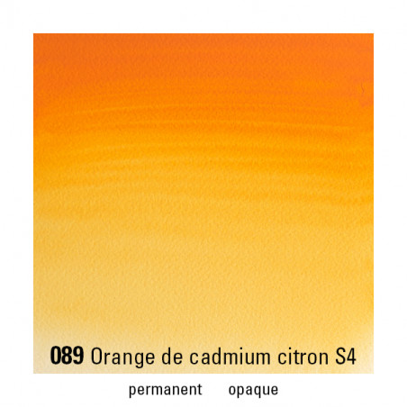 WINSOR&NEWTON AQUARELLE 1/2 GODET S4 089 CADMIUM ORANGE