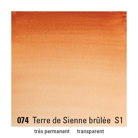 WINSOR&NEWTON AQUARELLE 1/2 GODET S1 074 TERRE SIENNE BRULEE