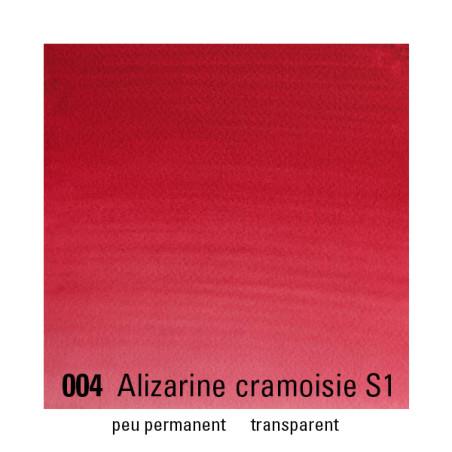 WINSOR&NEWTON AQUARELLE 1/2 GODET S1 004 ALIZARINE CRAMOISIE