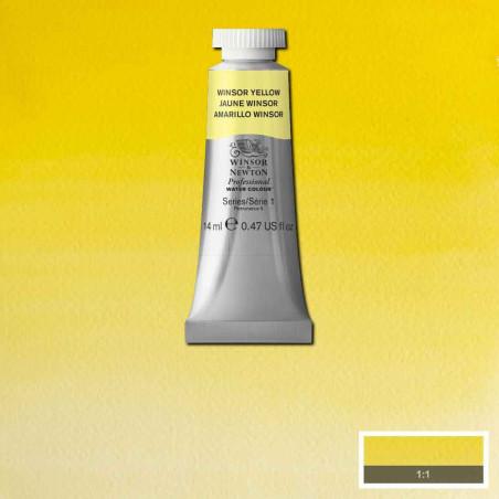WINSOR&NEWTON AQUARELLE 14ML S1 730 WINSOR JAUNE