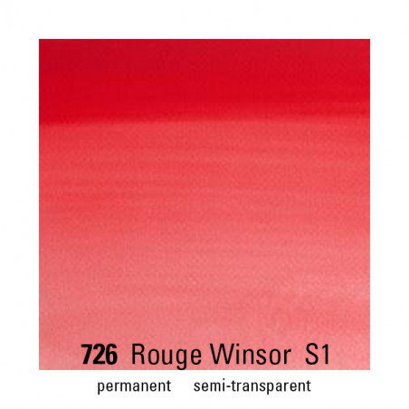 WINSOR&NEWTON AQUARELLE 14ML S1 726 ROUGE WINSOR