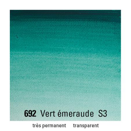 WINSOR&NEWTON AQUARELLE 14ML S3 692 VERT EMERAUDE