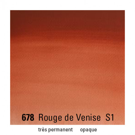 WINSOR&NEWTON AQUARELLE 14ML S1 678 ROUGE DE VENISE