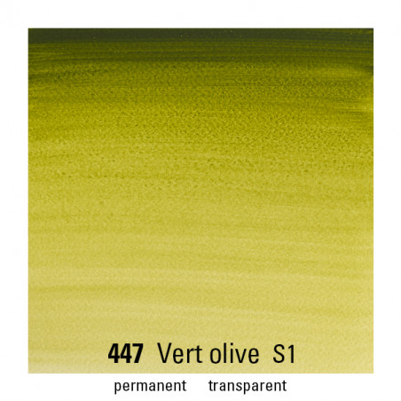 WINSOR&NEWTON AQUARELLE 14ML S1 447 VERT OLIVE