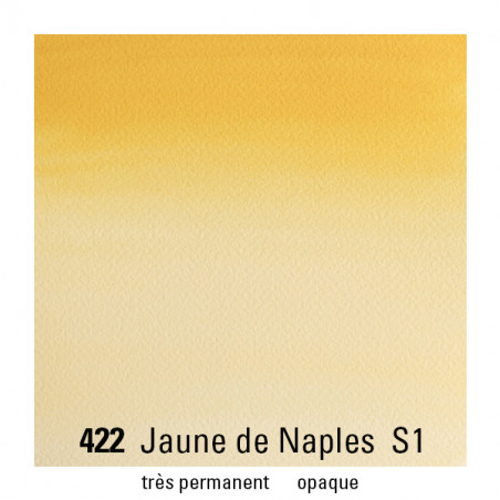WINSOR&NEWTON AQUARELLE 14ML S1 422 JAUNE DE NAPLES
