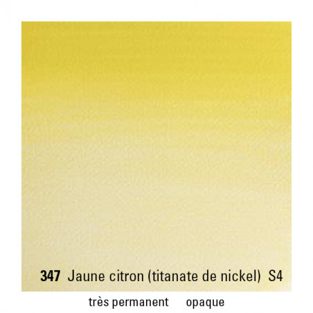 WINSOR&NEWTON AQUARELLE 14ML S4 347 JAUNE CITRON