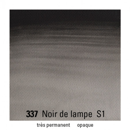 WINSOR&NEWTON AQUARELLE 14ML S1 337 NOIR DE FUME