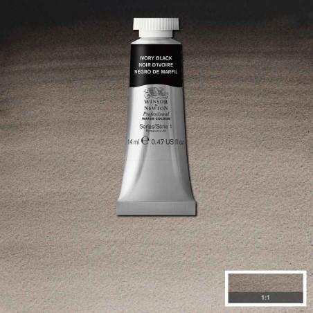 WINSOR&NEWTON AQUARELLE 14ML S1 331 NOIR IVOIRE